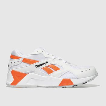 Reebok White & Orange Aztrek Mens Trainers