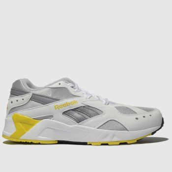 Reebok White & Yellow Aztrek Mens Trainers