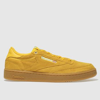 Reebok Yellow Club C 85 Mens Trainers