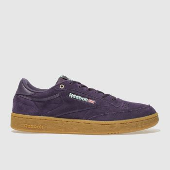 Reebok Purple Club C 85 Mens Trainers