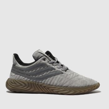 Adidas Light Grey Sobakov Mens Trainers