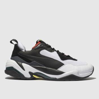 Puma White & Red Thunder Spectra Trainers