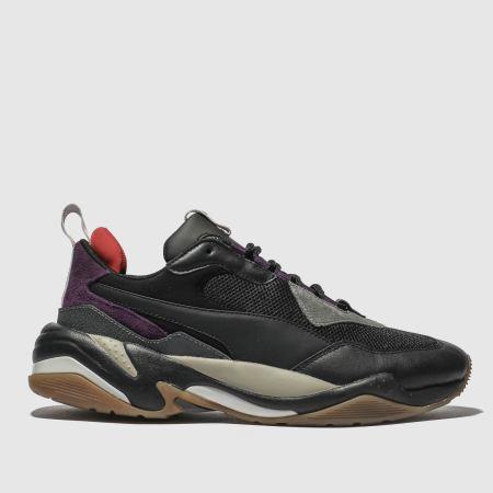 87c3a5a5fa97 mens black   purple puma thunder spectra trainers