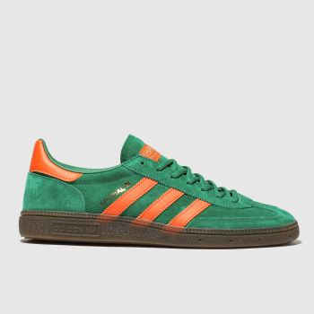 Adidas Green Handball Spezial Mens Trainers 540631f5b