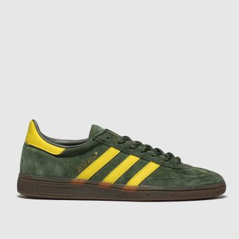 Adidas Dark Green Handball Spezial Mens Trainers#