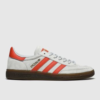 Adidas Silver & Red Handball Spezial Mens Trainers#