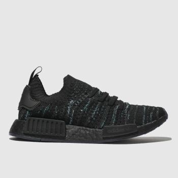 Adidas Black and blue Nmd_R1 Stlt Parley Mens Trainers
