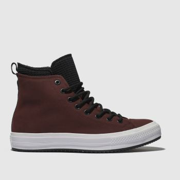 Converse Burgundy All Star Utility Draft Boot Hi Mens Trainers