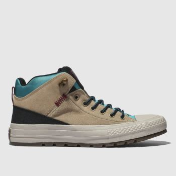 Converse Beige All Star Street Boot Hi Mens Trainers