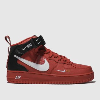 buy online 895df 8aa4a NIKE RED AIR FORCE 1 MID 07 LV8 TRAINERS