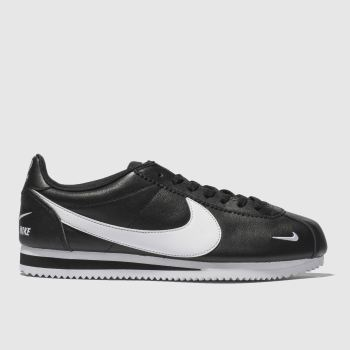 big sale dbca9 36584 Nike Black   White Classic Cortez Premium Mens Trainers