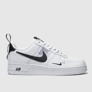 mens white & black nike air force 1 07 lv8 utility trainers | schuh