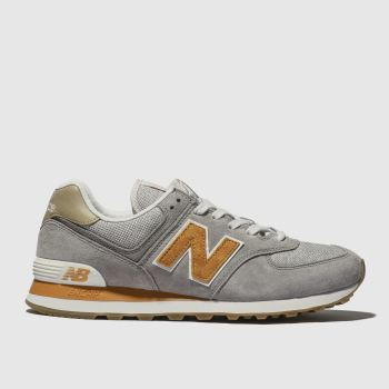 new style 7df6f ce470 New Balance Grey 574 Mens Trainers