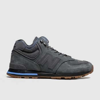 New Balance Grey & Navy 574 Mens Trainers