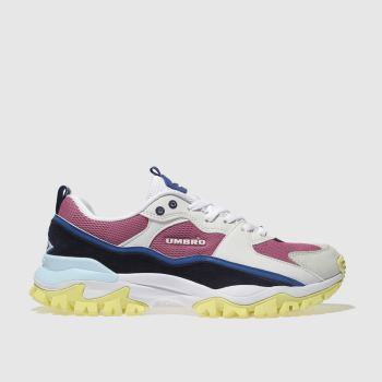 Umbro White & Pink Bumpy Mens Trainers