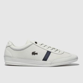 Lacoste White & Navy Misano Mens Trainers