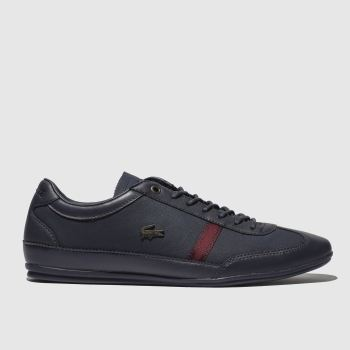 Lacoste Navy & Red Misano Mens Trainers