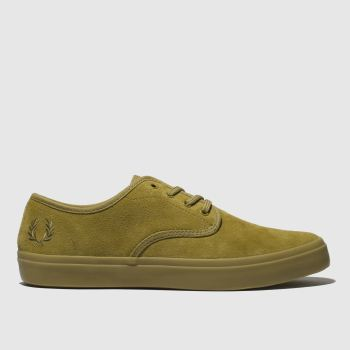 Fred Perry Tan Merton Suede Mens Trainers