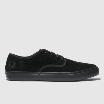 Fred Perry Black Merton Suede Mens Trainers
