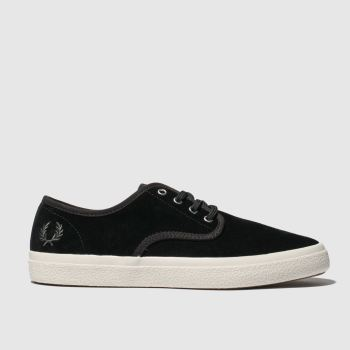 Fred Perry Black & White Merton Suede Mens Trainers