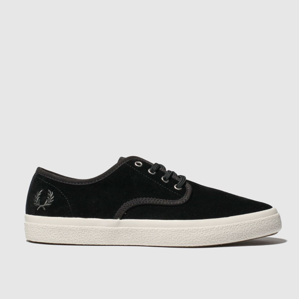 Fred Perry Black & White Merton Suede Trainers