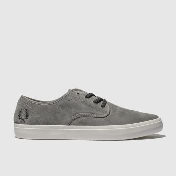 Fred Perry Grey Merton Suede Mens Trainers