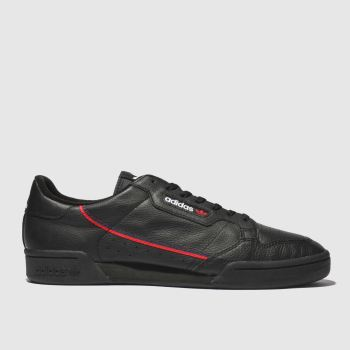 Adidas Black & Red Continental 80 c2namevalue::Mens Trainers