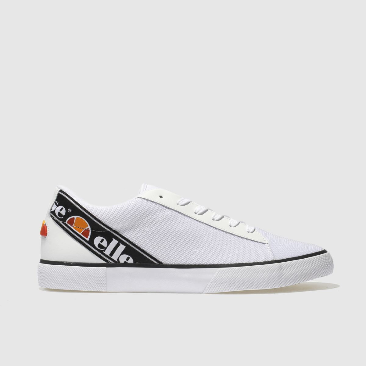Ellesse White & Navy Massimo Trainers