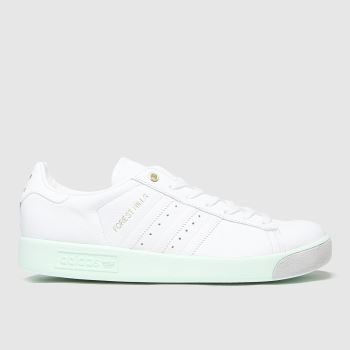 adidas White & Green Forest Hills Mens Trainers