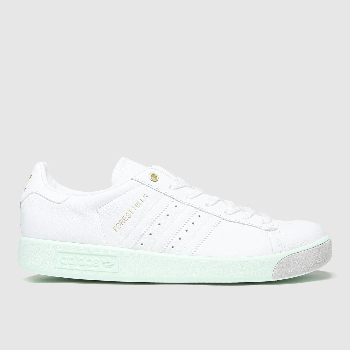 Adidas White & Green Forest Hills Trainers