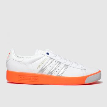 Adidas White & Orange Forest Hills Mens Trainers