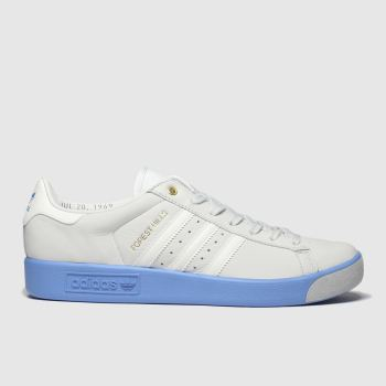 Adidas White & Blue Forest Hills Mens Trainers