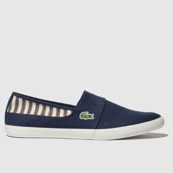 lacoste navy & white marice trainers