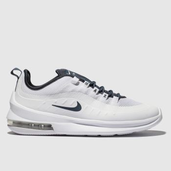 low priced 1e284 7e4ee Nike White   Blue Air Max Axis Mens Trainers