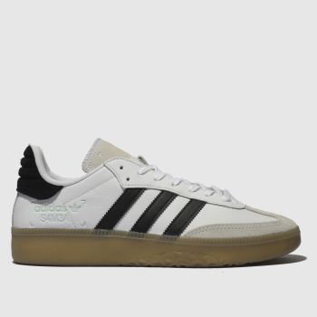 Adidas White & Black Samba Rm Mens Trainers