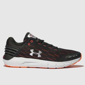 Under Armour Black & Red Charged Rogue Mens Trainers