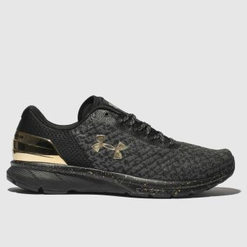 Under Armour Black & Gold Charged Escape 2 Chrome Mens Trainers