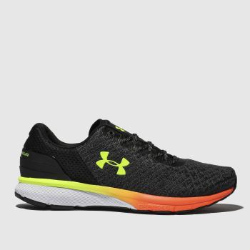 Under Armour Black & Orange Charged Escape 2 Mens Trainers