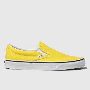Vans Yellow Classic Slip-On Mens Trainers