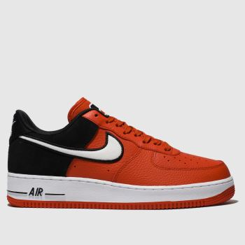 Nike Black & Red Air Force 1 07 Lv8 1 Mens Trainers