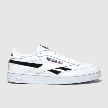 Reebok White & Black Club C Revenge c2namevalue::Mens Trainers