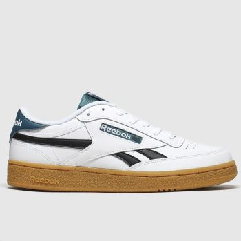 Reebok White & Green Club C Revenge Mens Trainers