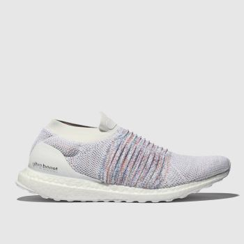 Adidas White Ultraboost Laceless Mens Trainers