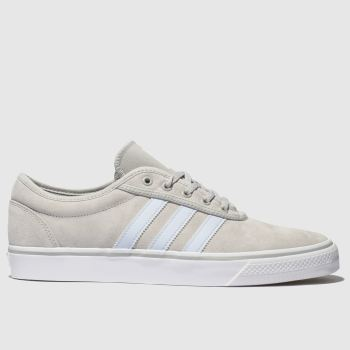 adidas skateboarding light grey adi-ease trainers