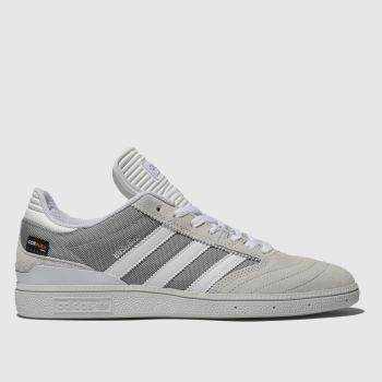 Adidas Skateboarding Light Grey Busenitz Mens Trainers