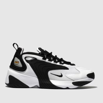 nike white & black zoom 2k trainers