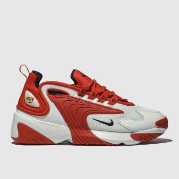 nike white & red zoom 2k trainers
