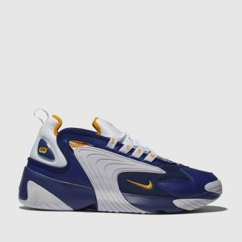 NIKE WHITE & BLUE ZOOM 2K TRAINERS