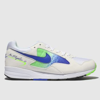 Nike White & Blue Air Skylon Ii Mens Trainers