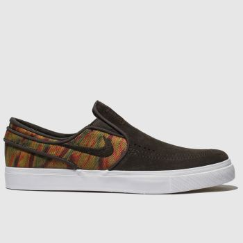 best sneakers 550d1 551c8 Nike Sb Brown Zoom Stefan Janoski Slip Mens Trainers